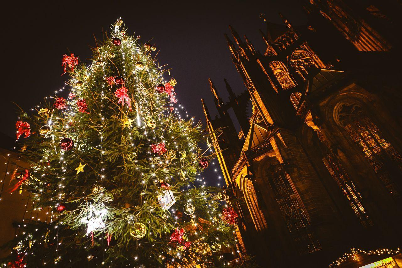 Slavnostní rozsvícení vánočního stromu na Pražském hradě
