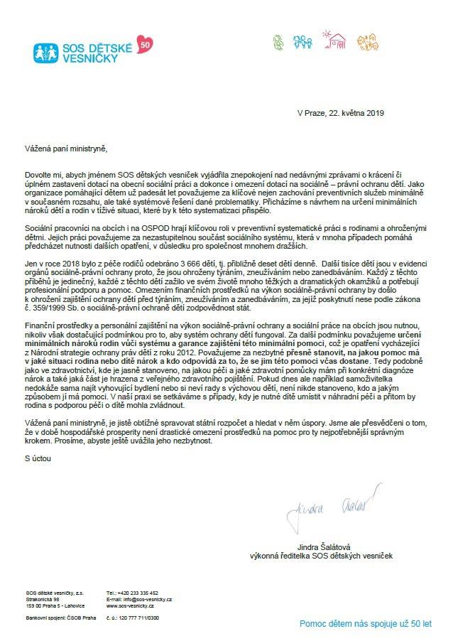 Otevřený dopis k plánovaným škrtům v sociální oblasti