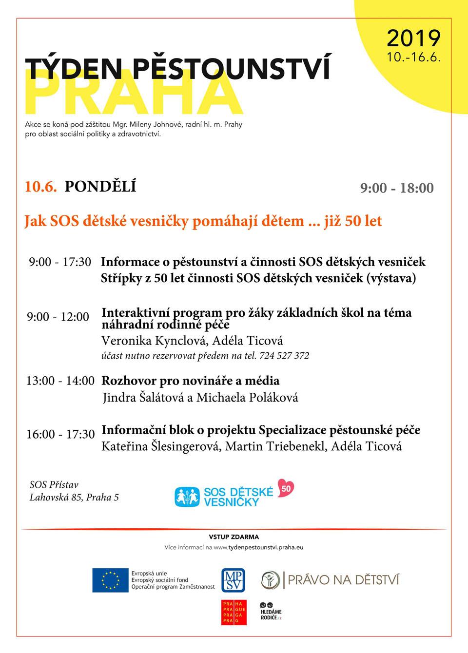 Týden pěstounství Praha