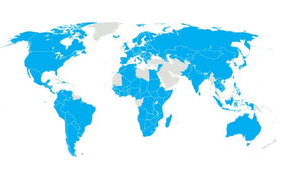SOS vesničky mapa svět